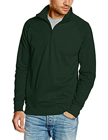 Fruit of the Loom SS128M, Sweat-Shirt Homme, Green (Bottle Green), L