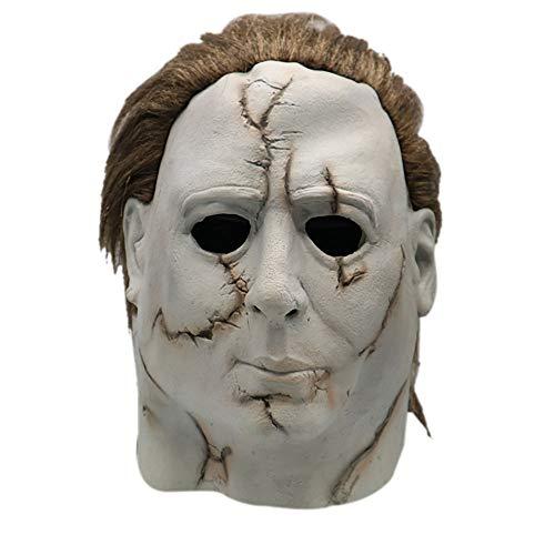 Fulltime E-Gadget Scary Maske Spielzeug, Hochwertiger Latex Cosplay Michael Myers Schmelz Gesicht Overhead Latex Kostüm für Party Weihnachten Halloween ()
