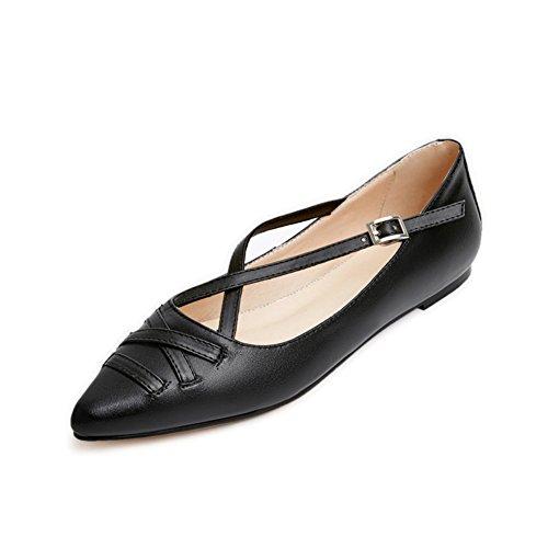 La version coréenne de la chaussure légère de bouton pointu/Lady chaussures confortables au printemps A