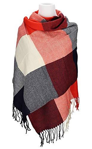 6c7a7a86f9ef7e UMIPUBO Sciarpa Donna Inverno, donna inverno scialle maglione cappotto Girl  grandi Tartan Wrap Maglia Scialle Inverno Donna, Poncho Donna Invernale  Stola ...