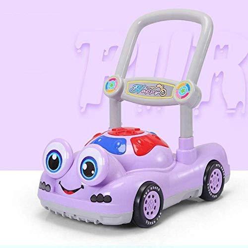 Säugling Trolley, Walker Trolley, Kinderspielzeugauto, 6-18 Monate, Anti-Test, Musik drehen, Walker Reise (Farbe : Purple)