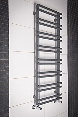 Hagen Towel Radiator 1200 x 500 - Grey