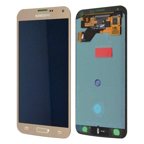 LCD Display Samsung G903F Galaxy S5 Neo Original full set Gold - FHD Super AMOLED LCD Display + Display Glas + Touchscreen + Elektronik (Galaxy Reparatur-service S5)