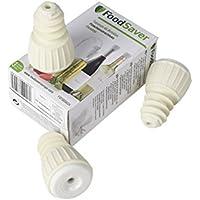 FoodSaver FSFSBS0024-050 Pack de 3 Bouchons hermétiques pour appareil de mise sous vide Blanc