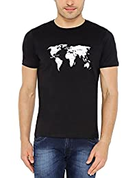 The Cotton Company Men's Graphic Print Crew Neck T Shirt - Drinks Of The World