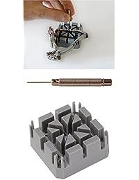 Bandhalteklotz mit Stiftaustreibern Uhren Stiftausdrücker