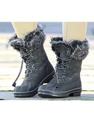 MERIBEL botas equitación calzado establo, color Gris - gris, tamaño 37/4
