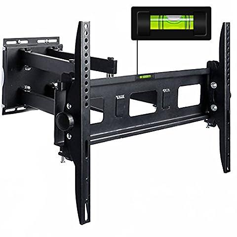 DEUBA®TV Wandhalterung für LCD LED Plasma Wandhalter schwenkbar neigbar bis 65 Zoll, max VESA 600x400 mm, 100kg