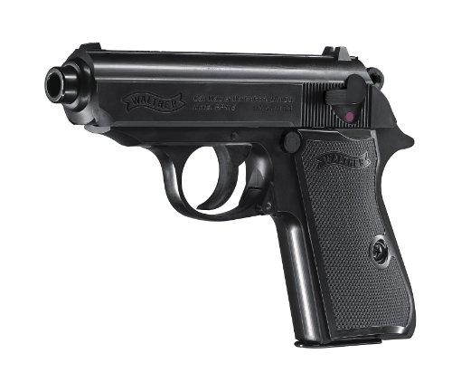"""Mechanische Softair Pistole Walther """"PPK/S"""" (007: Skyfall Pistole) Schwarz Metal Parts Slide 0,08J des Herstellers Walther"""