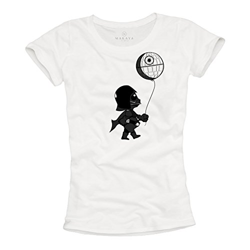 Baby Darth Vader T Shirt - Maglietta Stampate Divertenti Death Star Banksy Wars Donna S