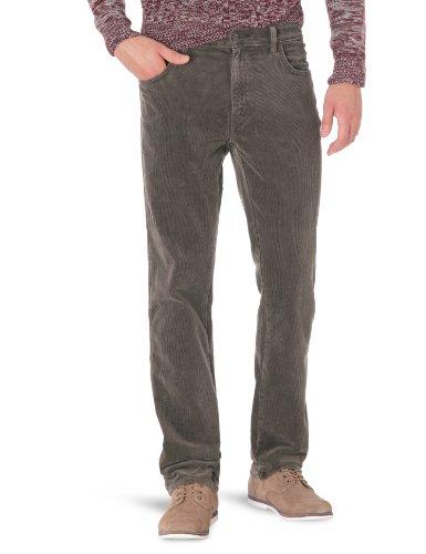 Wrangler Herren Jeans Texas Stretch DARK BROWN, Gr. 32/34, Braun (DARK BROWN 266) (Eine Jeans Knopf Wrangler)