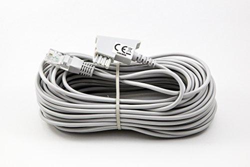 COXBOX 15m GRAU VDSL ADSL Kabel für den IP basierten DSL Anschluss TAE RJ45 VoiP Fritzbox Speedport