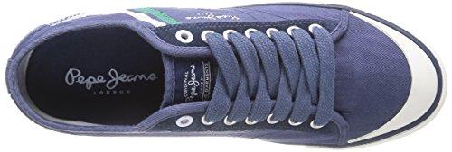 Pepe Jeans Tennis Print, Baskets mode homme Bleu (585)