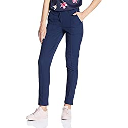 Vero Moda Women's Straight Pants (10167343_Black Iris_XL)