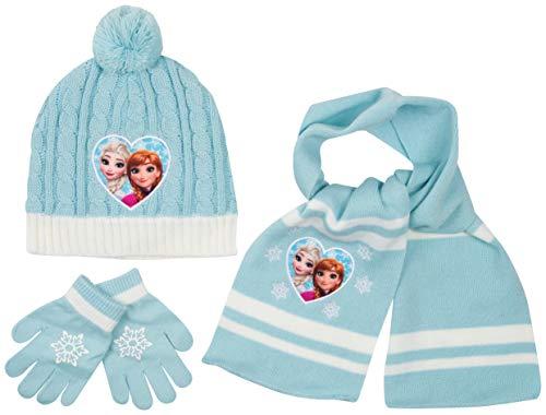 Disney- cappello bimbo inverno sciarpa guanti spiderman marvel avengers paw patrol frozen cappelli bimba invernali (frozen)