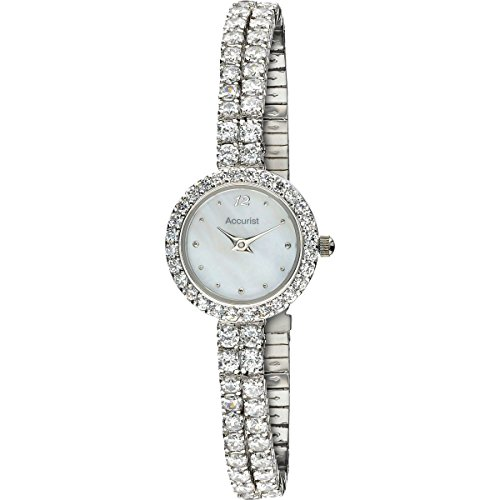 Accurist Ladies' Crystal Watch - White (90IAD67)