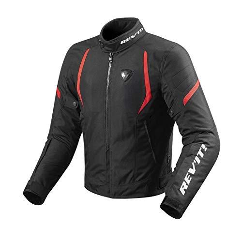 Revit JUPITER 2 Herren Motorrad Textiljacke Sport - schwarz rot