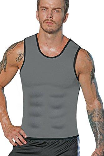 Foto de Camiseta Reductora LaLaAreal Hombre Faja Reductora Adelgazante de Neopreno Compresion para Perdida de Peso, Faja Abdomen y Barriga