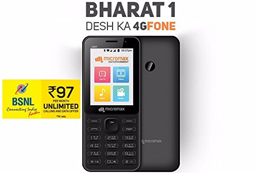 sale retailer be44e 2bb2b Micromax V407 Bharat 1 4g Volte With Bsnl Sim Best Deals With Price ...