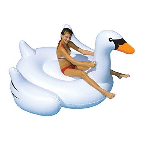 Yamyannie-SWP Schwimmbecken, Aufblasbare Schwan Pool Float Kinder Schwimmen Party Spielzeug Sommer Pool Lounge Floß