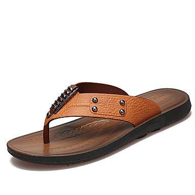 Slippers & amp da uomo;Sandali estivi Comfort Light Suole PU casual Blu Marrone Giallo sandali US7.5 / EU39 / UK6.5 / CN40