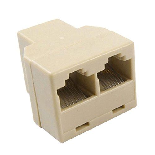 Sourcingmap® Ethernet RJ45 Buchse 1 zu 2 Buchse Netzwerk Y Verteiler LAN Anschlussadapters de