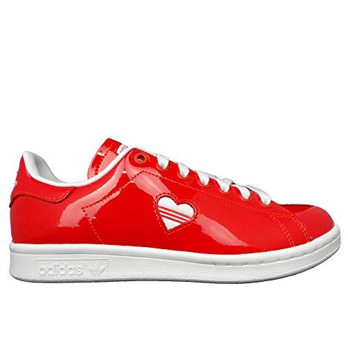 adidas Damen STAN SMITH W Sneaker Rot(Footwear White/Active Red), 38 EU