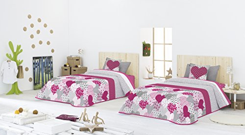 Casa Creativa COLCHA BOUTI + Cojín decorativo NYDIA (200X270) cama de 105 (ANTILO)