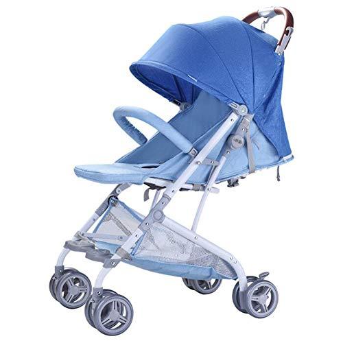 Wp.bewa Kinderwagen Reisespielzeug Für Kinder Tragbarer Puppenwagen Mit Schwenkbaren Rädern Und 5-Punkt-Sicherheitsgurt Design Faltbare Puppenwiege Für Neugeborene Kleinkinder 0-3 Jahre,A