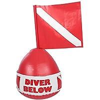 Tbest Flotador inflable de la bola de la zambullida del flotador de la señal del marcador de la superficie del salto del PVC con la bandera