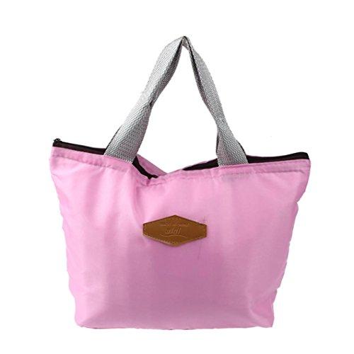 Hmeng Lunch Bag Large Neopren Isolierte Mittagessen Tote❤️ Food Holder Wiederverwendbare Frauen Lunch Box für Schularbeiten Outdoor Travel Picknick (Rosa)