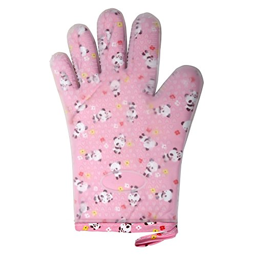 Lifestyle-You™ Heat Resistant Insulated & Textured Non-Slip Silicone Hand Gloves with Five Fingers (1 Pc) - For BBQ Grills, Ovens, Kitchen Accessory, Baking Tool.