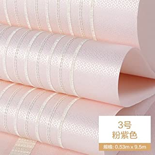 Reyqing Modernes, Minimalistisches Vertikale Streifen Tapete Farbe Plain  Woven Tapeten Schlafzimmer Wohnzimmer Studie, B