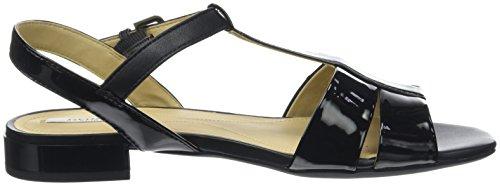 Geox Damen D Wistrey Sandalo D T-Spange Schwarz (Blackc9999)