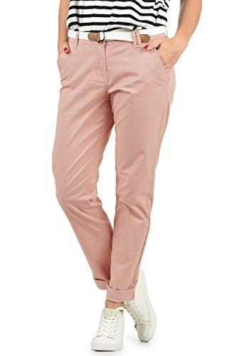 DESIRES Chakira Damen Chino Hose Stoffhose Mit Gürtel Aus Stretch-Material Slim Fit, Größe:36, Farbe:Pall Mauve (4420)