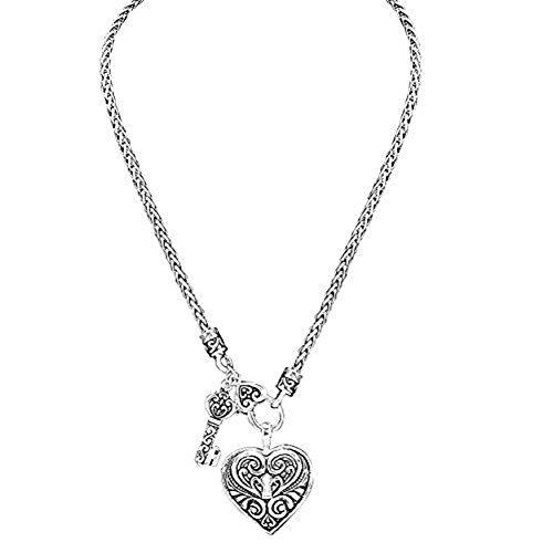 Rosemarie Kollektionen Damen Deco Key to my heart Halskette und Ohrringe Set