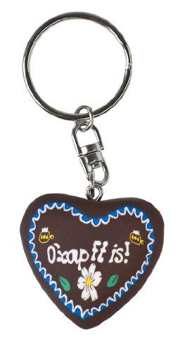 Clay Schlüsselanhänger (Braun Schlüsselanhänger, weiss/blau, 95072)