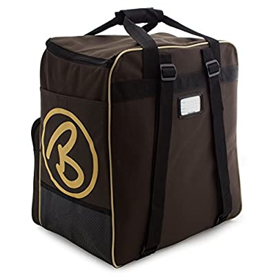 BRUBAKER Boot Bag SUPER CHAMPION Backpack holds complete Ski or Snowboard Equipment incl. Helmet! - Limited - Braun / Sand - sports-outdoor-bags, skiing-backpacks