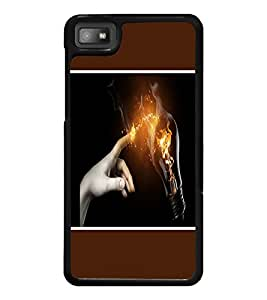 PrintDhaba Power Touch D-1277 Back Case Cover for BLACKBERRY Z10 (Multi-Coloured)