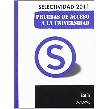 Latín. Pruebas de Acceso a la Universidad. (Selectividad/PAU 2011)