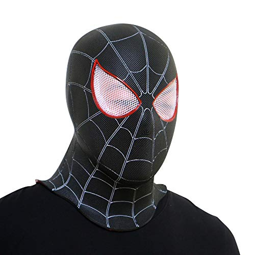 JUFENG Schwarz Spiderman Venom Mask Cos Superheld Kopfbedeckung ()