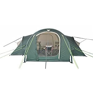 neumayer – inflatable family/group tent xxl – model fiji – 2-4-6-person air-rise-tent – 5.7m x 5.65m – 16 sqm ground sheet – 3 separate sleeping cabins + lounge - 2 m standing height - silicon treated