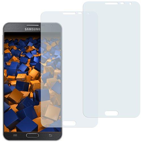 mumbi Schutzfolie kompatibel mit Samsung Galaxy Note 3 Neo Folie klar, Bildschirmschutzfolie (2x)
