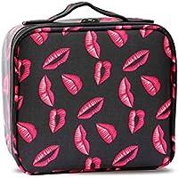 ece0188a7 WANGXN Bolsa de cosméticos de Viaje con divisores Ajustables Viaje Bolsa de  cosméticos organizar Caso para