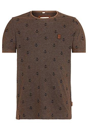 Naketano Male T-Shirt El Master Del Buscho III Heritage Anthracite Melange