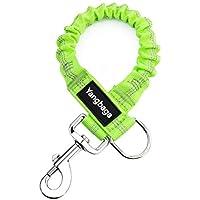[Gesponsert]Yangbaga Ruckdämpfer für Hunde Leine Elastische Hundeleine Nylon-Kurzleine Perfekte Dämpfung beim Fahrrad für Hunde ab Mittlerer Größe (2.5*42cm) Grün