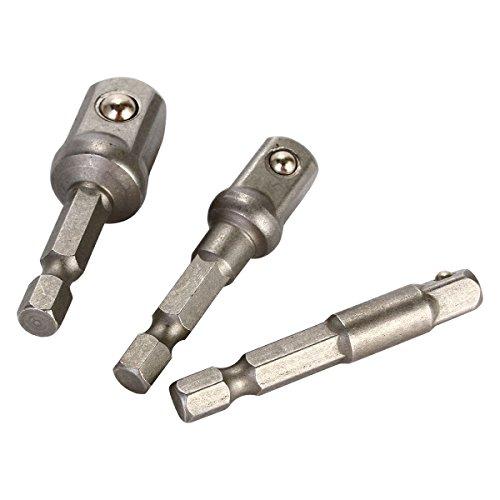 XCSOURCE® 1/4″ 3/8″ 1/2″ Erweiterung Bohrer Stange Hex Anschluss Strom Treiber Schaft Adaper Set 5cm BI050 - 3