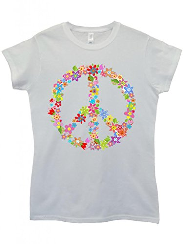 peace-sign-flower-summer-cool-funny-hipster-swag-white-weiss-damen-women-top-t-shirt-large
