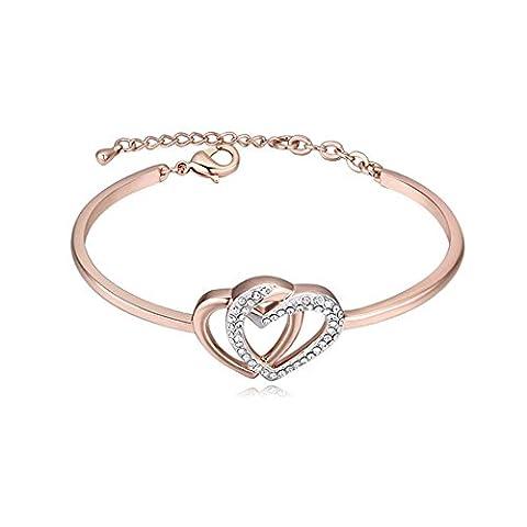 Bracelet en cristal YAWEN Love Rose Gold Platinum Fashion Summer Romance , rose gold 1