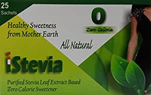 iStevia Zero Calorie Natural Sweetener - 50 Stevia Sachets (100 Servings) - Sugarfree